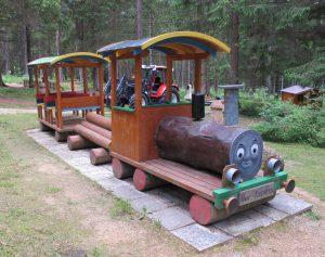 Holzzug im Märchenwald
